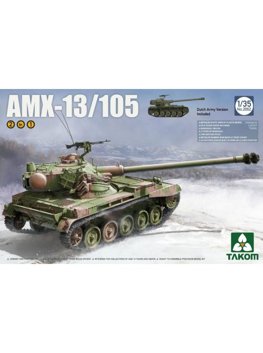 Takom - French Light Tank AMX-13/105 2 in 1