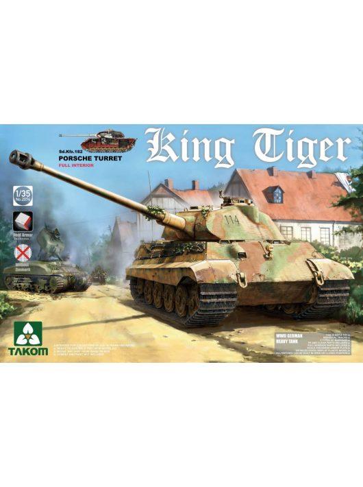 Takom - WWII German Heavy Tank Sd.Kfz.182 King Tiger Porsche Turret w/interior [