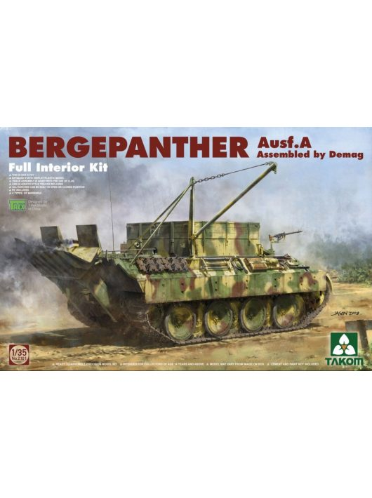 Takom - Bergepanther Ausf A Assembled by Demag production full interior kit