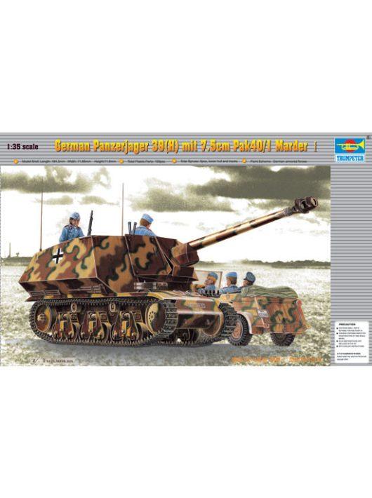 Trumpeter - PzKpfw 39(H) Panzerjäger mit 7,5 cm Pak 40/1 Marder
