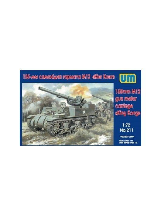 Unimodels - M12 U.S. 155mm self-propelled gun