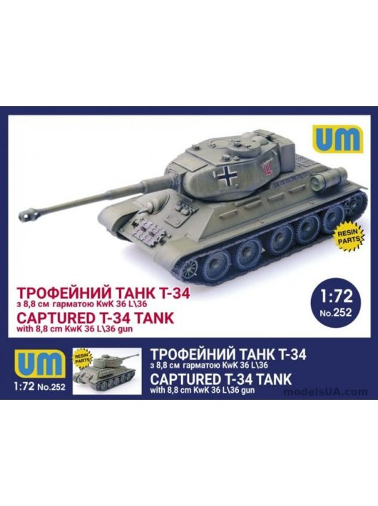 Unimodels - T-34 captured tank with 8,8 cm KwK 36L/36 gun