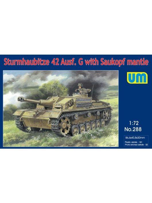 Unimodell - Sturmhaubitze 42 Auf.G W. Saukopf Mantle