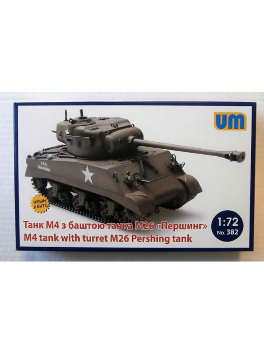 Unimodell - M4 Tank with turret M26 Pershing Tank