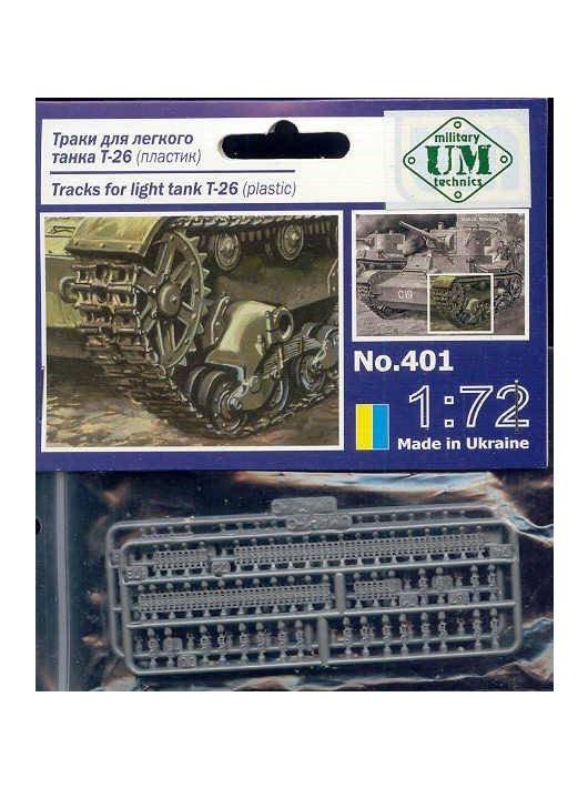 Unimodell - Ketten for Light Tank T-26