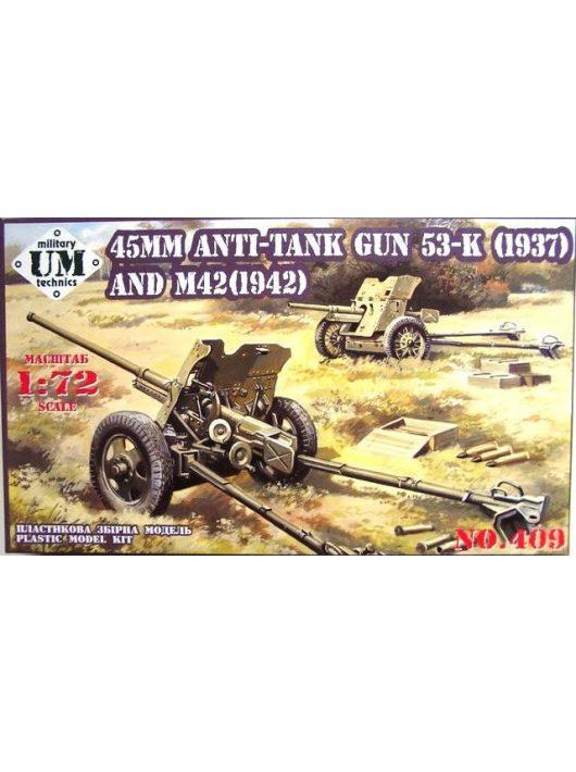 Unimodels - 45mm Antitank guns 53-K (1937) and M42 (1942)