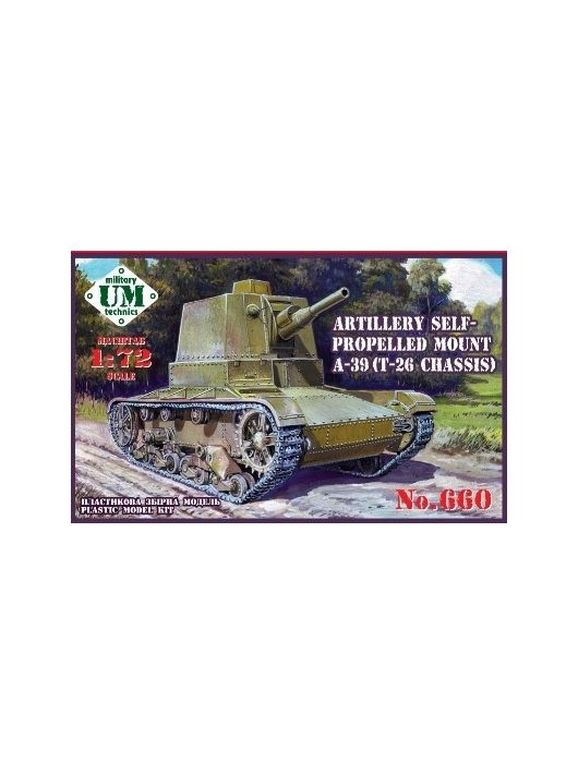 Unimodels - A-39 (T-26 chassis) Soviet self-propelle