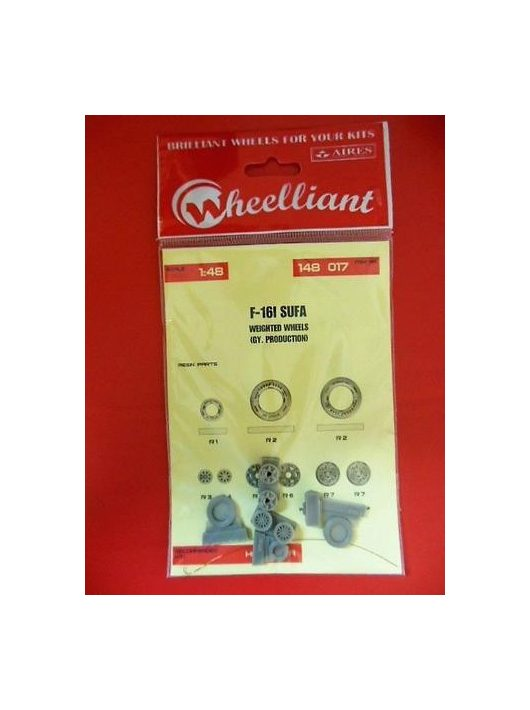 Wheelliant - F-16I Sufa Weighted Wheels(Gy Produktion For Hasegawa